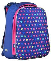 Ранец школьный жестко-каркасный  H-12 Hearts , 38*29*15 , YES, фото 1