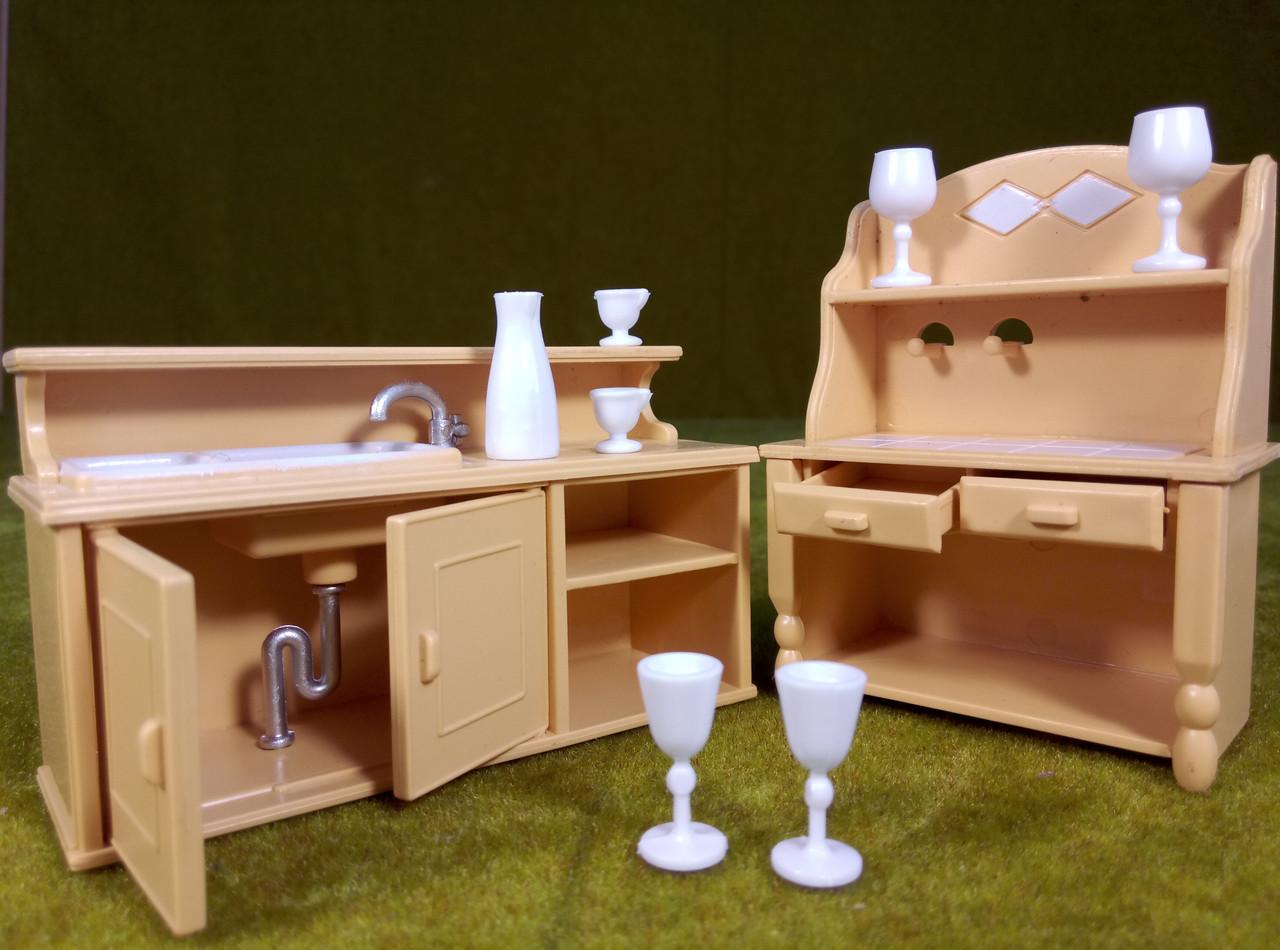 Игровой набор Кухня Happy family (аналог Sylvanian Families), для ЛОЛ