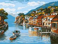 Картина по номерам Дома на воде худ. Сунг, Ким (VP002) 40 х 50 см