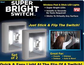 Светильник Super Bright Switch Супер Яркий переносной (СКЛАД-5шт)