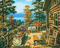 Картина по цифрам DIY Babylon Терраса лесного домика худ Сунг, Ким (VP023) 40 х 50 см