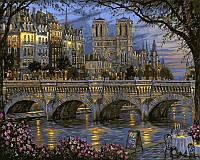 Картина по номерам на холсте На берегу реки Сены худ. Финале, Роберт (VP050) 40 х 50 см