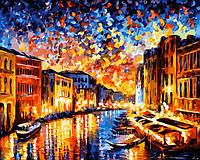 Раскраска по номерам Ночная Венеция худ. Афремов, Леонид (VP072) 40 х 50 см