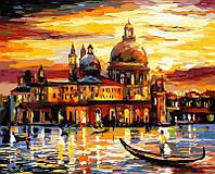Раскраска по цифрам Золотое небо Венеции худ. Афремов, Леонид (VP073) 40 х 50 см