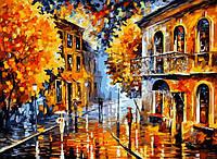 Рисование по номерам Осенний дождь худ. Афремов, Леонид (VP074) 40 х 50 см