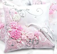 Свадебная подушка под кольца № 5-роз