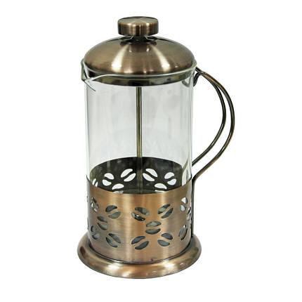 Заварочный чайник с пресс-фильтром Зерно медь-стайл, 600 мл, фото 2