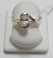 Кольцо Любава из серебра с золотом и цирконами, фото 1