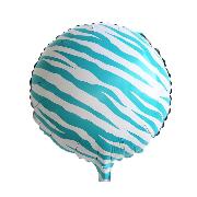 Фольгированные воздушные шары, форма:круг зебра, 18 дюймов/45 см, 1 штука