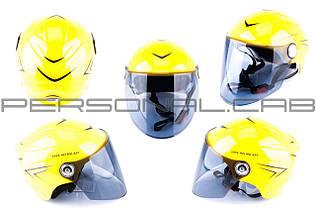 Шлем открытый   (mod:SM818) (size:XL, желтый)   HELMO