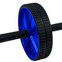 Ролик для пресса Spokey TWIN II гимнастический двойной c металлическими ручками,тренажер колесо