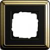 Устан рамка 1 мест ClassiX бронза черный
