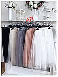 Женская модная фатиновая юбка-миди, фото 2