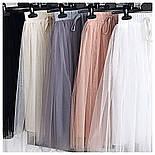 Женская модная фатиновая юбка-миди, фото 7