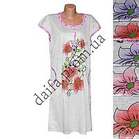 Женская котоновая ночная рубашка LD21 (р-ры 50-54) оптом со склада в Одессе.