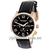 Часы наручные Montblanc TimeWalker Automatic Black-Gold-Black (реплика)