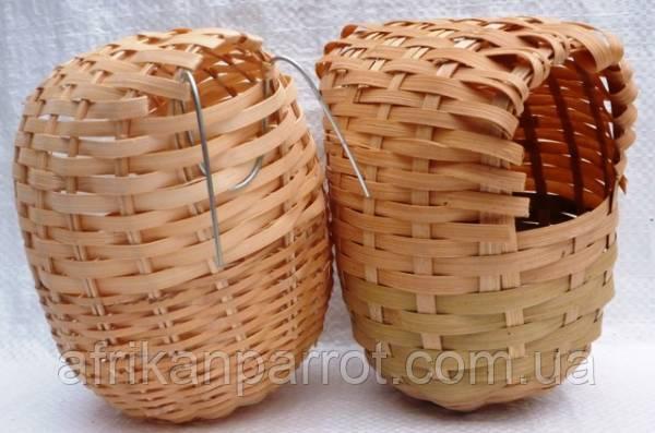 Гнездо плетеное для амадин - среднее 11#12 см
