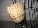 Гнездо плетеное для амадин - среднее 11#12 см, фото 2