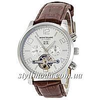 Часы наручные Montblanc TimeWalker Tourbillon Brown-Silver (реплика)