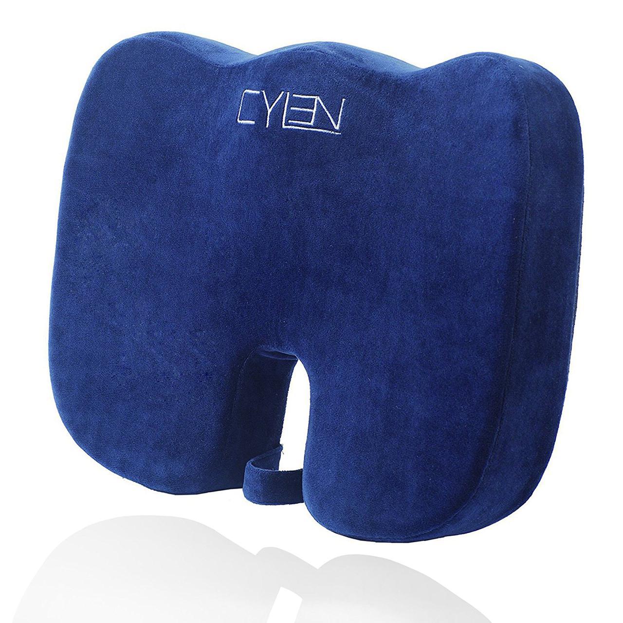 Ортопедическая подушка для сидения CYLEN Memory Foam Bamboo Charcoal для большого веса