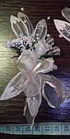 Свадебная бутоньерка (Ц-б-ДМ-12) (кремовая)