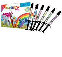 Rainbow flow набор Рейнбоу флоу цветной жидкотекучий композит