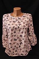 Рубашка женская, бабочка,  купить женскую одежду со склада оптом, IR 1860 2/2 -BJ-0023