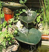 """Водный каскад """"Листья""""- декор для водоема, изготавлевыемый по оттиску живого растения., фото 1"""