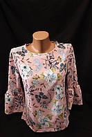 Рубашка женская, цветы,  купить женскую одежду со склада оптом, IR 1860 2/2 -BJ-0030