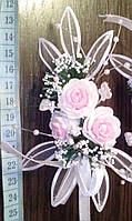 Свадебная бутоньерка (Ц-б-ДМ-09) (розовая)