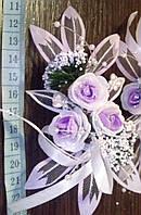 Свадебная бутоньерка (Ц-б-ДМ-08) (сиреневая)