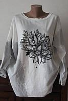 Блуза женская цветок на белом фоне, фото 1