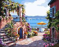 Картина по номерам на холсте DIY Babylon Тихий дворик худ Сунг, Ким (VP214) 40 х 50 см