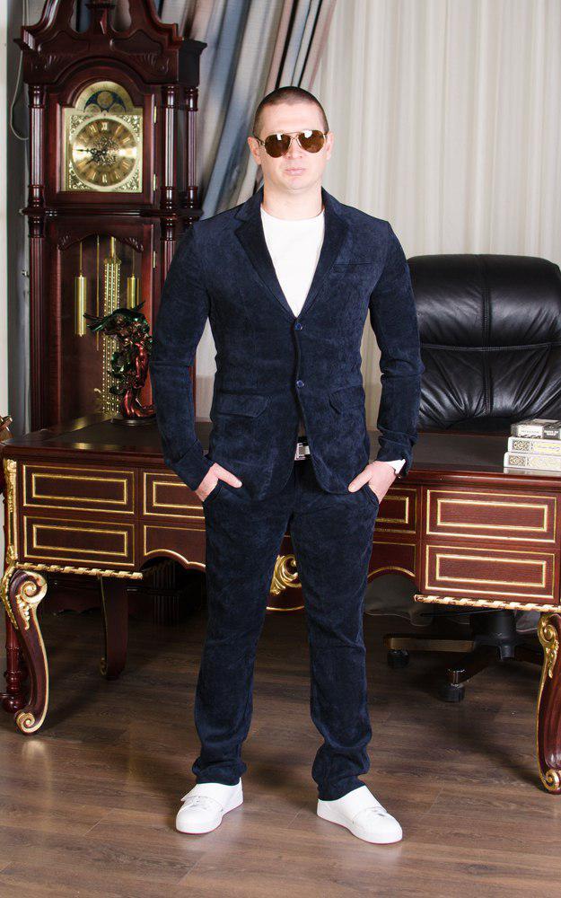 Вельветовый мужской костюм ев728
