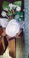 Свадебная бутоньерка № ДМ-05 (коричневая)