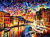 Картина по номерам MENGLEI Венеция Гранд канал худ. Афремов Леонид (VS007)