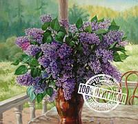 Картина по номерам MENGLEI Сирень на веранде худ. Пивоварова Марина (VS011)