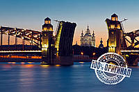 Картина по номерам MENGLEI Мост Санкт Петербурга  (VS022)
