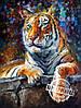 Картина по номерам MENGLEI Сибирский тигр худ. Афремов Леонид (VS024)