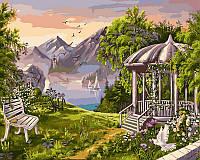 Картина по номерам Беседка в горах худ. Цыганов, Виктор (VP168) 40 х 50 см