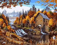 Картина по номерам DIY Babylon Дом в лесу худ Даелин, Марк (VP143) 40 х 50 см