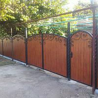 Ворота с узором