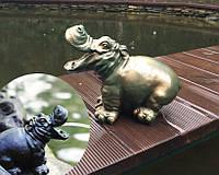 Бегемотик - фонтанная фигурка для небольшого водоема., фото 1