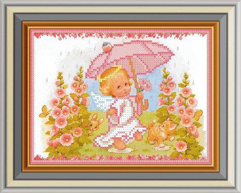 """Схема для вышивки бисером """"Зонтик для ангелочка"""""""