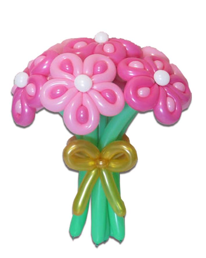 """Букет цветов из воздушных шариков Ромашка """"леопардовая"""" - MORE шаров в Броварах"""