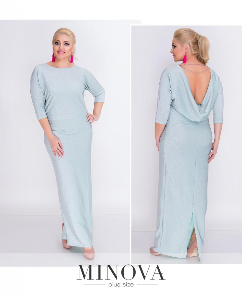 1d855aeb0178232 Роскошное блестящее платье–макси из люрекса с 50 по 56 размер -  Интернет-магазин