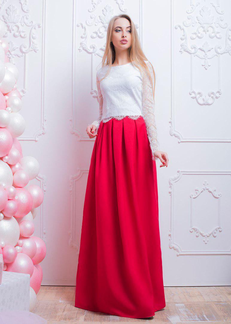Макси-юбка со складками