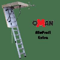 Чердачная лестница Alu Profi EXTRA 120x70 алюминиевая Oman