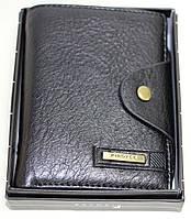 Бумажник мужской, черный вертикальный, Piroyce, фото 1