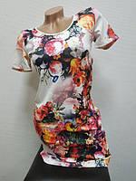 Платье белое с цветами 44-46, фото 1